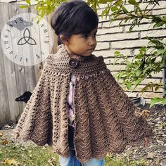 Easy Crochet PATTERN only for the Hooded Cape. Provided as an instant digital download in .PDF format. As soon as payment is cleared, your