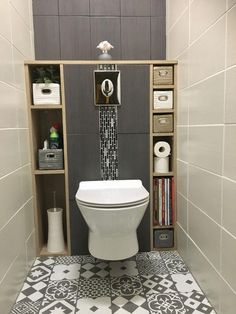 Guest bathroom with toilet closet makeover 24 Wc Design, Toilet Design, Design Ideas, Bath Design, Creative Design, Design Trends, Modern Bathroom Design, Bathroom Interior Design, Bathroom Designs