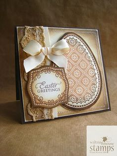 Waltzingmouse Makes...: Easter #easter #card #stamp