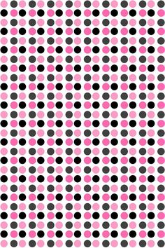 Pink to Black Polka Dots Phone Backgrounds, Polka Dots, Pink, Wallpapers, Patterns, Black, Block Prints, Black People, Wall Papers