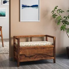 Buy Rhodes Entryway Storage Bench at Urban Ladder. Starting from Available in Finishes: Teak, Mahogany Diy Home Furniture, Balcony Furniture, Diy Home Decor, Room Decor, Sheesham Wood Furniture, Solid Wood Furniture, Entryway Bench Storage, Bench With Storage, Diy Wood Bench