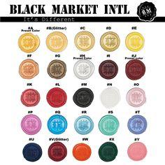 Sealing Wax - Stamp Wax, Seal Wax - Standard or Glue Gun Use by blackmarketintl on Etsy https://www.etsy.com/listing/97739607/sealing-wax-stamp-wax-seal-wax-standard