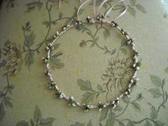 Christening or bridesmaid floral crown by FavorsAndMorebyFiona, $29.00