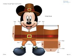 Do-it-yourself Mickey Mouse Pilgrim candy box.