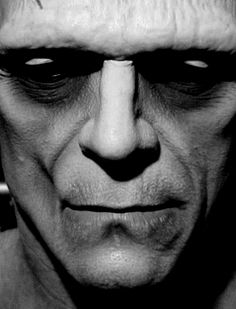 Frankenstein (1931) Boris Karloff  Especially noticeable here is the sunken in nature of Karloff's face. This was aided by his ability to remove an entire row of dental work on the right side of his jaw. Neat!
