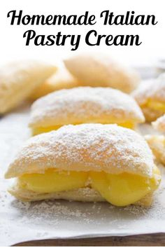 Italian Pastry Cream, an easy Italian vanilla cream filling, the perfect filling for tarts, pies or cakes. A simple delicious Italian classic - super simple and easy to make! This easy pastry cream recipe is perfect for desserts year round! #pastrycream #dessert Italian Pastries, Italian Desserts, Italian Recipes, Italian Cookies, French Pastries, Gourmet Desserts, Plated Desserts, Mini Pastries, Dessert Recipes