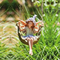 Petal Fairies Puckish Pixie Hanging Statuary