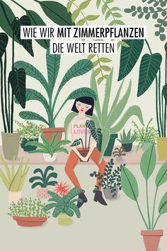 Indoor Plants, Garden Plants, Minding Your Own Business, Interior Plants, Interior Design, Green Paper, Green Life, Mural Art, Photo Illustration