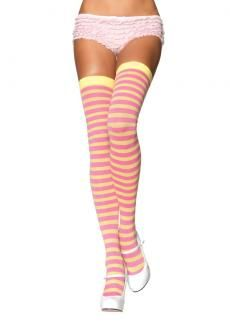 2500777c3 Leg Avenue Nylon Striped Stockings Lemon  Pinkbr  br  br  Details  Check  out these sexy stockings from Leg Avebr  br     nylon and Spandex for extra  ...