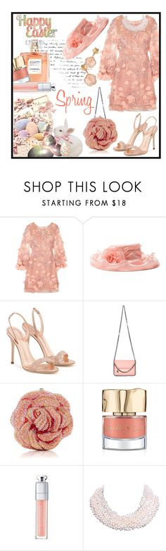"""MY EASTER Bonnet"" by jckallan ❤ liked on Polyvore featuring Notte by Marchesa, Giuseppe Zanotti, Fabergé, STELLA McCARTNEY, Smith & Cult, Christian Dior, Tiffany & Co., Pasquale Bruni, Easter and bonnet"