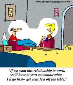 Kommunikation ist so wichtig, (communication is so important)