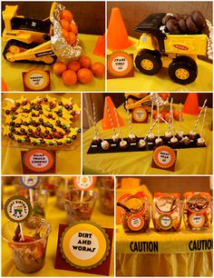 Construction Truck Themed Birthday Party