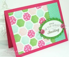 Thinking Of You And Smiling Card by Nichole Heady for Papertrey Ink (June 2012)
