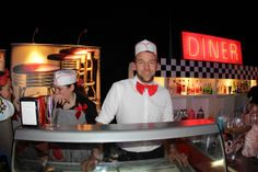 American Diner waiters and serving staff