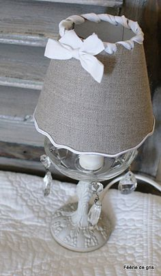 Mirror Lamp, Nightstand Lamp, Burlap Flowers, Burlap Bows, Lamp Redo, Shaby Chic, I Love Lamp, Lamp Shades, Kids Decor