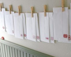 print the numbers for the envelopes
