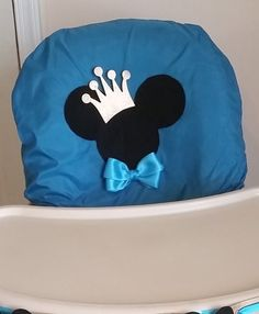 Prince Mickey Mouse Highchair Cover by EdiliaCreations on Etsy