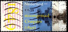 Netherlands.  Cruquius steam pumping station, 1849.  Industrial Heritage.  Scott  1137c A435, Issued 2002 Sept. 24, Perf. 14 1/2x14 3/4, 39c. /ldb.