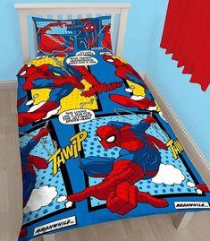 Buy Spiderman Webhead Single/US Twin Duvet Cover Set - Rotary Design online! Best sale prices for all products. Girls Duvet Covers, Duvet Cover Sizes, Quilt Cover Sets, Kids Bedding Sets, Duvet Sets, Rotary, Spiderman Bed, Spiderman Marvel, Marvel Comics