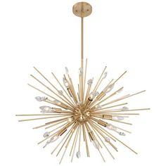 "Possini Euro Renae 29 1/2"" Wide Antique Gold Pendant Light - #1F063 | Lamps Plus"