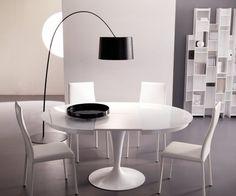 Designer ausziehbarer Esstisch Ozzio Eclipse mit Glasplatte/ extending table with glas top
