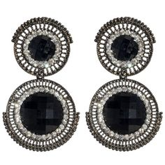 Amrita Singh Faye Earrings (Gunmetal/Jet Black)