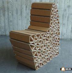 Самая дешёвая и экологически чистая мебель из картона, Мебель для дома   Энциклопедия ремонта  