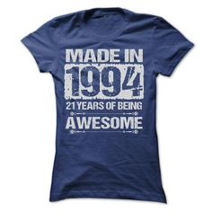 MADE IN 1994 T Shirts, Hoodies. Get it now ==► https://www.sunfrog.com/LifeStyle/MADE-IN-1994--ST4-Ladies.html?57074 $22.9