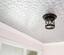 how to: embossed tin porch ceiling