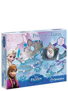 Päästä luovuutesi valloilleen ja askartele kauniita Frozen-kruunut ja korut -askartelusetin avulla itsellesi upepta kruunuja, -hiuspantoja ja -koruja! Ikäsuositus 7+