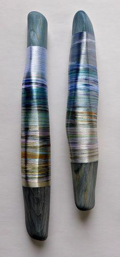Helena Emmans - Hand-dyed thread pieces | Helena Emmans // Isle of Skye artist!  I love this work!