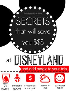 Awesome Disneyland tips! I had never heard of most of them! @Katie Baumann Olson  let me know if you ever try the baby care room. I'd be interested to hear about that.