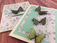 Unique Pink Butterflies Green Greeting Card Valentine/'s Day Mother/'s Day Salmon Flowers Blank Blue Red Love Birthday Brown
