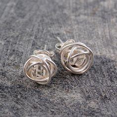 Nest Stud Earrings Silver / by Otis Jaxon