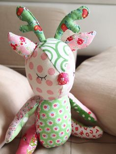 Handmade Patchwork Deer