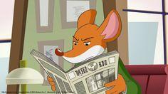 Geronimo Stilton reading the newspaper