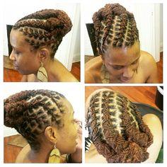 Natural Hair done Right Dreadlock Styles, Dreads Styles, Updo Styles, Natural Hair Care, Natural Hair Styles, Short Hair Styles, Afro Punk, Loc Updo, Beautiful Dreadlocks