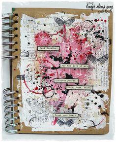 step by step art journal tutorial My blog: http://artistycrafty.blogspot.ie/ My instagram: http://instagram.com/maremis_small_art My pinterest: http://www.pi...