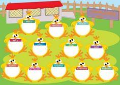 Panel de cumpleaños para preescolar - Imagui Preschool Classroom, Classroom Decor, Orla Infantil, Birthday Charts, Birthday Board, Classroom Organization, Ideas Para, Activities, Word Doc