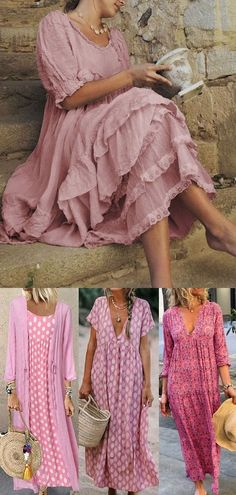 Boho Fashion, Fashion Dresses, Mode Hippie, Hippie Style Clothing, Daily Dress, Two Piece Dress, Mode Outfits, Casual Dresses For Women, Beautiful Outfits