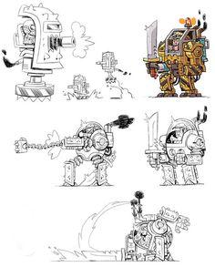 Awesome character design art from Mercenary Kings! artist Stéphane Boutin