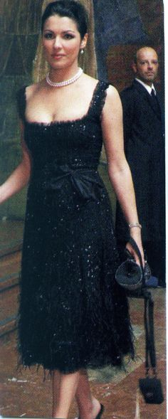Anna Netrebko style   ... great black dress. I am slightly obsessed with Anna Netrebko's style