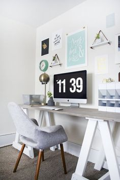 A Visual Recipe for Motivation: A Workspace Perfect for Small Spaces — Favorite Rooms   Apartment Therapy