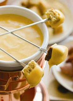 Ooey Gooey Cheese Fondue! for Claire's fondue party!