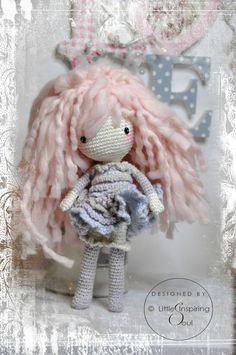 shabby crochet doll