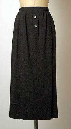House of Dior Christian Dior, New Look, Vintage Fashion, Feminine, French, Silk, Skirts, Black, Design