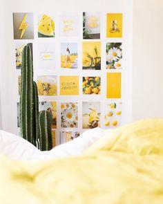 yellow room decor 35 Best Dorm Color Schemes For Your Freshman Dorm Room - Cassidy Lucille Dorm Color Schemes, Dorm Room Colors, Dorm Room Themes, Bedroom Colors, Color Combinations, Yellow Room Decor, Sunflower Room, Studio Decor, Dorm Room Designs