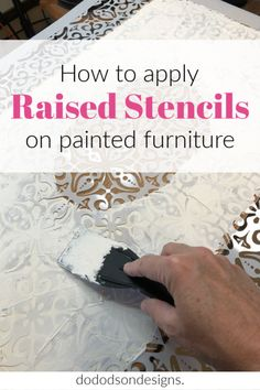 I transformed this sideboard into OMG!!! Have you ever thought about adding raised stencils to your painted furniture makeovers? Let me show you how!  #dododsondesigns #raisedstencils #paintedfurniture