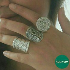 3 Tribal Boho rings by KULI YOM. The Esquire ring, the Amira ring, the Karo ring. http://shopee.sg/kuliyom/3151360