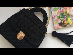 Peanut Model Bag Making (Half Peanut) Crochet Handbags, Crochet Purses, Crochet Doilies, Crochet Shell Stitch, Crochet Stitches, Crochet Patterns, Bag Pattern Free, Purse Patterns, T Shirt Yarn